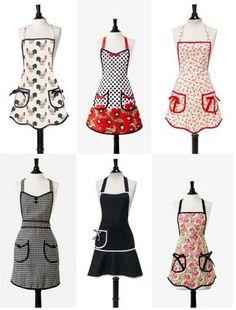güzel önlük modelleri, şık önlük tasarımları, renkli mutfak önlükleri