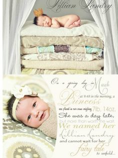 birth announcement idea