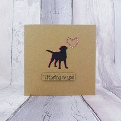 Handmade Labrador birthday card for Mum, Mother's Day Card, Mothering Sunday Black Labrador card, Step-Mum / Mom, Card from children Funny Mothers Day, Mothers Day Cards, Happy Mothers Day, Step Mum, Mothering Sunday, Birthday Cards For Mum, Birthday Ideas, Happy Mother's Day Card, Dog Silhouette
