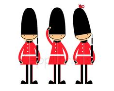 British Guards Kids Room Art Print England English wall decor London