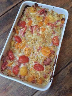 Ham kaas ovenschotel macaroni recept zonder pakjes en zakjes