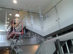 3M Aerina Gradient Fasara Film. Great for a grand staircase! Courtesy of Ming Auto and 3M window film solutions
