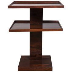 Fine French Moderne Étagère Table | From a unique collection of antique and modern end tables at https://www.1stdibs.com/furniture/tables/end-tables/