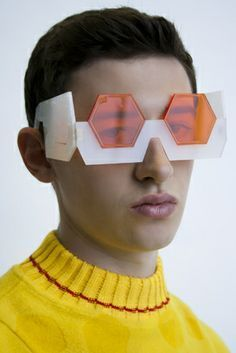 House of Scouse - Laser cut eyewear with laser etched jumper. House of Scouse - Laser cut eyewear with laser etched jumper. Only Fashion, Teen Fashion, Runway Fashion, Fashion Tips, Fashion Trends, Fashion Styles, Style Fashion, Womens Fashion, London College Of Fashion