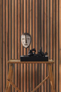 Timber Stripes | NLXL wallpaper by Piet Hein Eek