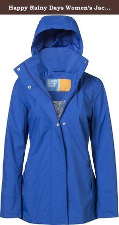 Happy Rainy Days Women's Jacket Medium Kobalt Blue. Fashionable yet practical luxury rainwear.