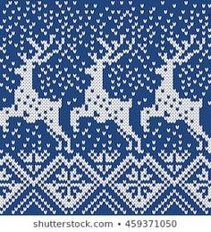 Find Deer Snowflake Seamless Knitting Pattern stock images in HD and millions of other royalty-free stock photos, illustrations and vectors in the Shutterstock collection. Fair Isle Knitting Patterns, Knitting Machine Patterns, Knitting Charts, Loom Knitting, Knitting Sweaters, Free Knitting, Crochet Symbols, Crochet Chart, Christmas Stocking Pattern