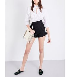 MAJE Ingrid pleated shorts