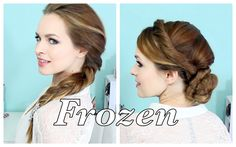 Elsa's Hairstyles from FROZEN! I'm going to be her for Halloween..or every day I haven't decided yet!