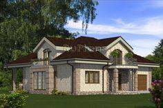 Проект уютного дома с мансардой и гаражом Rg4841