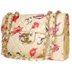 Pre-owned White Chanel Classic Flap Shoulder Bag ($2,850) ❤ liked on Polyvore