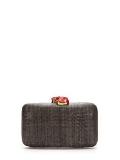 Jen Tinalak Stone Box Clutch by Kayu at Gilt