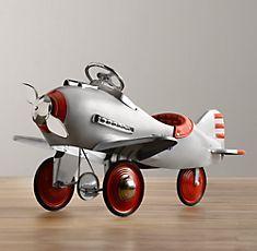 Vintage Metal Plane -Toys & Playroom | Restoration Hardware Baby & Child