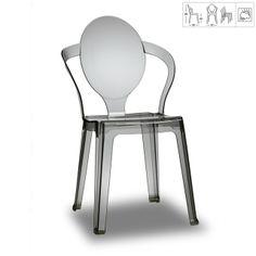 Chaise design Lena transparent gris http://designdunjour.com/fr/chaise-design-lena-transparent-gris.html
