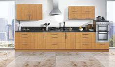 Lucca's warm Mediterranean tones are an inviting style feature in any kitchen. The vinyl-wrapped beech effect doors are extra-resilient so that spills can be simply wiped away and the rich colour won't fade over time. #kitchens #beechkitchen #fittedkitchens http://www.tescokitchens.com/kitchen-collections/lucca-kitchen.html