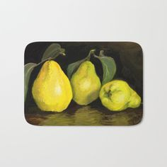 'Quinces ' Laptop Sleeve by Lövei Éva Yellow Theme, Art Store, Back To Black, Laptop Sleeves, Autumn, Fruit, Macbook, School, Green