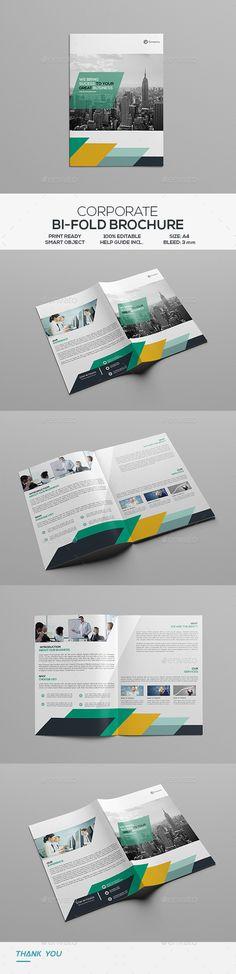 Corporate Bifold Brochure - Corporate Brochures Download here : https://graphicriver.net/item/corporate-bifold-brochure/19487216?s_rank=5&ref=Al-fatih