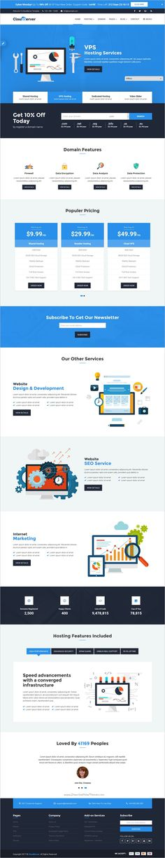 Cloudserver is a wonderful responsive #HTML5 Bootstrap template for of #Technology, #Domain and Hosting Business website with 10 WHMCS themes and 10 different color version download now➩ https://themeforest.net/item/cloudserver-responsive-html5-technology-web-hosting-and-whmcs-template/19201853?ref=Datasata