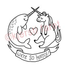 PDF  Horny Animals Embroidery Pattern by CatCoven on Etsy, $4.00
