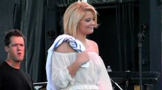 "Lauren Alaina sang Bon Jovi's song ""Wanted Dead or Alive"" at the Celebrate VA Live on June 15, 2012."