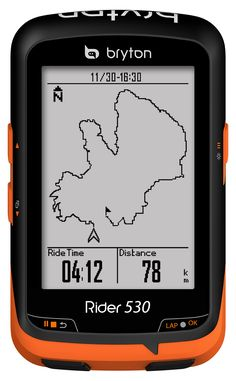 Bryton Rider-530 low-cost-GPS-cycling-computer map 38d32acb0