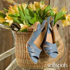 Spring is here. Show off your feet in a pretty new pair of sandals. Choose from heels and flats with chic style to go with skirts, jeans…all your favorite dress and casual outfits.