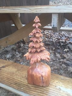 Tree Chainsaw Wood Carving Cherry Wood Handmade by JoshCarteArt