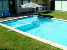 Rectangular Swimming Pool With Umbrella Sleeve Pool Shade As Modern Swimming Pool Designs Interesting Rectangular Pool Designs Swimming Pool Above Ground Swimming Pool Landscaping Ideas. Home Swimming Pool Designs. Swimming Pool Pictures, Small Swimming Pools, Luxury Swimming Pools, Swimming Pools Backyard, Swimming Pool Designs, Pool Landscaping, Pools Inground, Lap Pools, Small Inground Pool