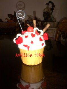 Cup cake Porta notas