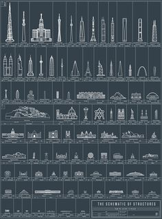 Brooklyn-basedPop Chart Lab—makers of such visual compendia as the chart of 500 beers,pasta permutation map, andThe Great Gatsbyas an infographic—has turned its sights toward architecture.