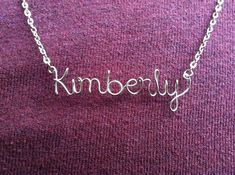 Personalized Wire Name Necklace or Word Necklace by JoRasDesigns, $15.00