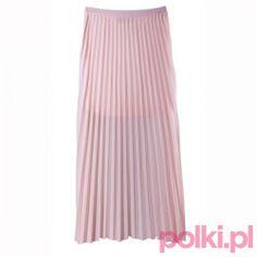Spódnica maksi pudrowa, Reserved #fashion #polkipl #bebeauty #moda #style #trendy