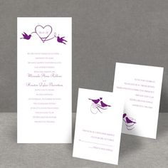 This would be cute in blue!    Pretty Birds - 3 for 1 Invitation