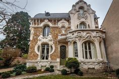 "casaannabel: "" Art Nouveau Villa - Maison Barillet (1900), can be found in the number 46 of Rue Saint-Marc of the city of Orléans in France. """