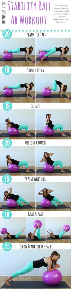 Great ab workout using a stability ball!