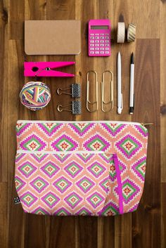 The cutest way to hold your office supplies! #accessories #pouch