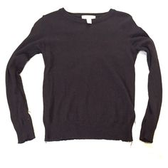 Black Forever 21 sweater Black sweater. Size medium. Fits more like a small. Forever 21 Sweaters Crew & Scoop Necks