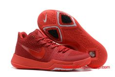 2017 Nike Kyrie 3 China Red Men's Basketball Shoes $76.00