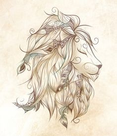 Poetic Lion Art Print by LouJah