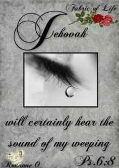 """Jehovah will certainly hear the sound of my weeping."""