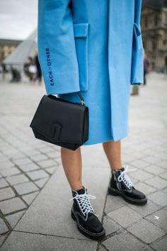 Street style at Paris Fashion Week Women's Spring 2018