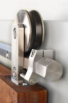 The Hex Bar Interior Barn Door Hardware showcases the geometric form of a hexagon crafted in solid steel. Accent the modern décor in any room with this sliding door hardware kit.