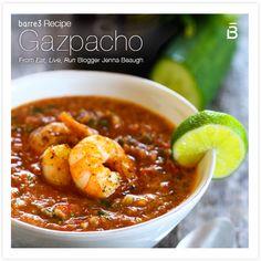 Summer Gazpacho with Shrimp