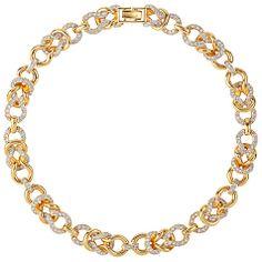 Buy Susan Caplan Vintage 1980s Nina Ricci Gold Plated Swarovski Crystal Link Necklace Online at johnlewis.com