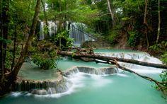 Matajitu Waterfall, Moyo Island, West Nusa Tenggara, Indonesia.