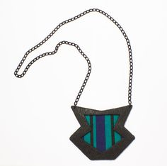 Handmade geometric polymer clay statement by DesignsbyLimeLight