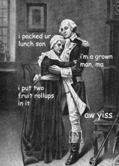 """'The Adventures Of George Washington' Memes Are Hilarious Historical Satire - Funny memes that """"GET IT"""" and want you to too. Get the latest funniest memes and keep up what is going on in the meme-o-sphere. Funny Quotes, Funny Memes, Meme Meme, It's Funny, Funny Cartoons, Funny Laugh, History Memes, Art History, Funny History"""