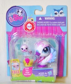 Littlest Pet Shop Swan and Friend Christmas in July SALE #Mystexastreasures $6.40 w/ coupon