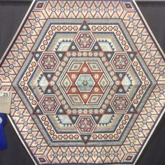 """Melbourne Craft and Quilt Show 2014 - Best of Show :: Elenor Jean by Linda White 22,500 1/4"""" hexies and 2.5 years in the making."""