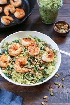 Spaghetti squash with sauteed shrimp and basil-parsley pesto makes for an nutrient-packed low-carb paleo-friendly dinner that happens to also be Whole30 compliant! Truth: I've been roasting winter …